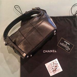 CHANEL Square Stitch Caviar Bag